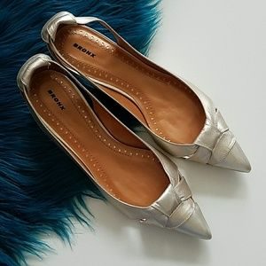Bronx Fabia Leather Shoes Rose Gold Size 40